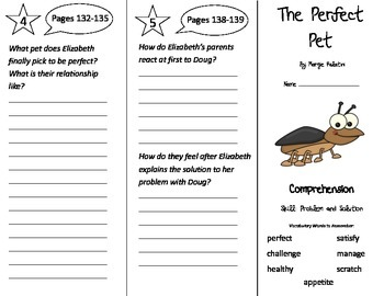 The Perfect Pet Trifold - Treasures 3rd Grade Unit 1 Week 5 (2009)