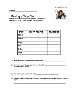 The Perfect Pet math graphing activities