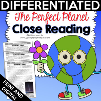 Reading Comprehension Passages and Questions - The Perfect Planet FREE