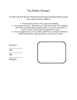 The Perfect Present - A Christmas Writing and Characterization Activity