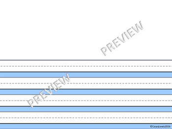The Perfect Primary PRINTABLE PAPER -  13 p Differentiated K 1st 2nd