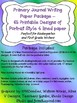 The Perfect Primary Printable Writing Paper 4 lined Portrait 65 Designs K 1