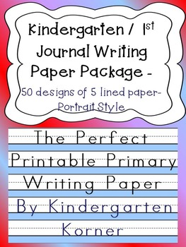 The Perfect Primary Printable Writing Paper 5 lined Portra