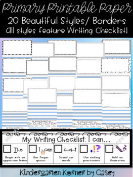 The Perfect Printable Primary Paper Journal Writing Kindergarten 1st 160 pgs!