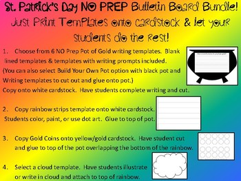 ST. PATRICK'S DAY The Perfect Pot of Gold Bulletin Board Bundle - writing craft