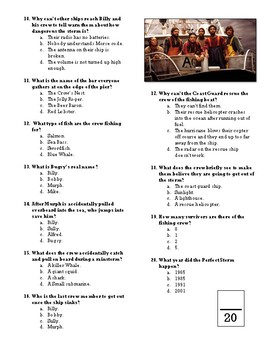 The Perfect Storm Movie Quiz
