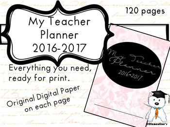 Teacher Planner 2016-2017  - Seasons Themed 130+ pages - Back to school