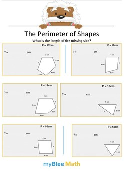 The Perimeter of Shapes 1 - What is the length? - Gr 3