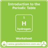 Introduction to the Periodic Table [Worksheet]