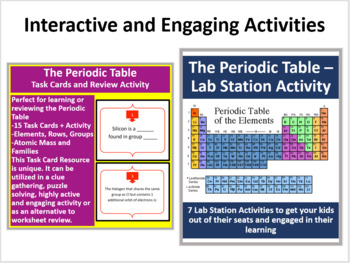 The periodic table complete 5e lesson bundle by teach with fergy the periodic table complete 5e lesson bundle urtaz Image collections