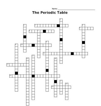 The Periodic Table Crossword Puzzle
