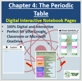The Periodic Table Digital Interactive Notebook Pages By Teach