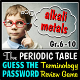 Periodic Table - Guess the Password Terminology Review Game {Editable}