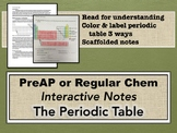 The Periodic Table Interactive Notes