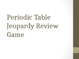 The Periodic Table Jeopardy Review Game