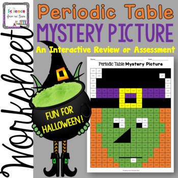 The periodic table review mystery picture worksheet perfect for the periodic table review mystery picture worksheet perfect for halloween urtaz Images