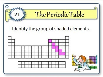 Periodic Table - Task Cards {With Editable Template}