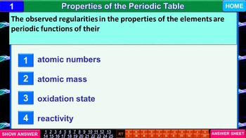 The Periodic Table: iPractice (Interactive PPT Worksheet for Test & Quiz Prep))