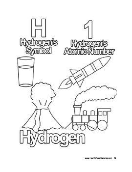 periodic table elements coloring pages - photo#6
