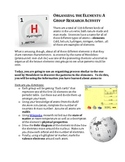 """The Periodic Table of Elements - """"how is it organized"""" Group Activity"""