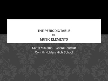 The Periodic Table of Music History PowerPoint