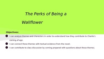 The Perks of Being a Wallflower Discussion Topics with Readings