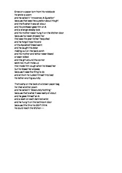 The Perks of Being a Wallflower - Poem & Questions