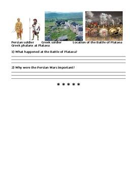 The Persian Wars Powerpoint Worksheet
