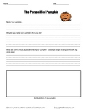 The Personified Pumpkin Halloween / Writing Assignment for Primary Grades