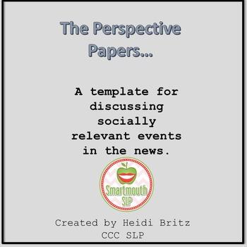 Social Skills Activities:  Perspective taking