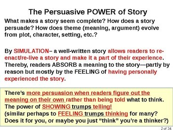 The Persuasive Power of Story: How suspending disbelief can trump reasoning