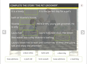 The Pet Groomer - An Illustrated Writing Prompt (for PC & IWB)