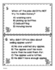 The Pet War - Comprehension Task Cards / Literature Scoot