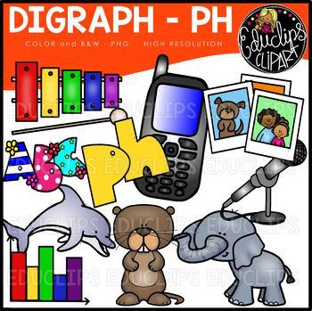 Digraph~PH Clip Art Bundle {Educlips Clipart}