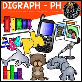Digraph~PH Clip Art Bundle {Educlips Clipart}