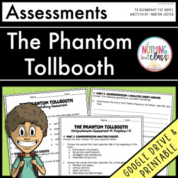 The Phantom Tollbooth: Tests, Quizzes, Assessments