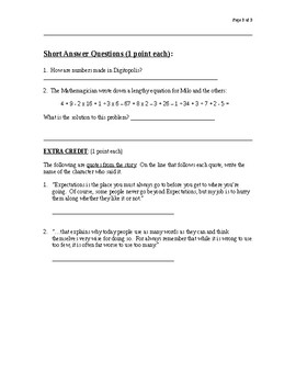 The Phantom Tollbooth Chapter 14-15 Test Questions