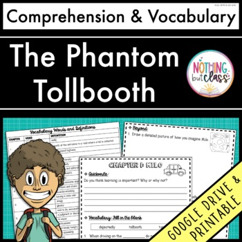 The Phantom Tollbooth: Comprehension and Vocabulary by chapter