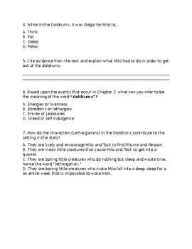 The Phantom Tollbooth Comprehensive Test