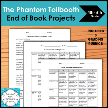 The Phantom Tollbooth- End of Book Final Projects