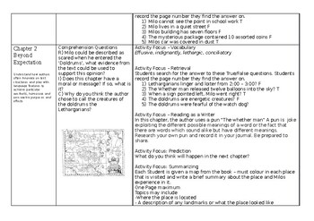 The Phantom Tollbooth Guided Reading Plan and Novel Study