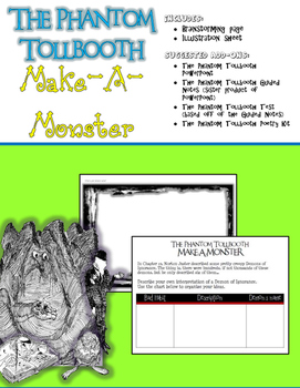 The Phantom Tollbooth Make-A-Monster Activity