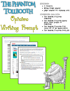 The Phantom Tollbooth Opinion Writing Prompt