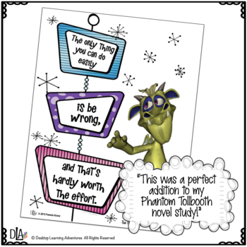 The Phantom Tollbooth: Posters Connecting with Quotes