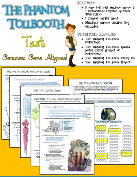 The Phantom Tollbooth Test (Common Core Aligned)