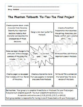The Phantom Tollbooth Tic-Tac-Toe Board
