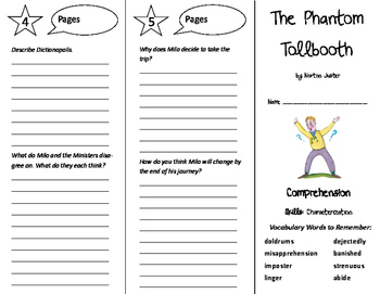 The Phantom Tollbooth Trifold - Storytown 6th Grade Unit 6 Week 4