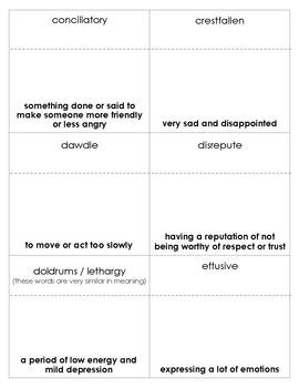 The Phantom Tollbooth Vocabulary Bingo