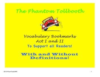 The Phantom Tollbooth: Vocabulary Bookmarks