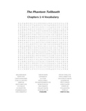 The Phantom Tollbooth Vocabulary Word Search Packet for Al